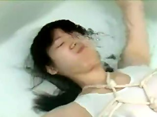 Japanese girl breath holding