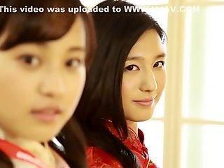 Exotic Japanese model in Amazing Lesbian, HD JAV video