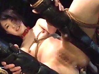 Aoki Rin Jav Idol Gets Ball Gagged Spanked Rope Bound